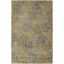Artist's Loom Hand-tufted Transitional Floral Rug (5' x 7'6) - Thumbnail 0