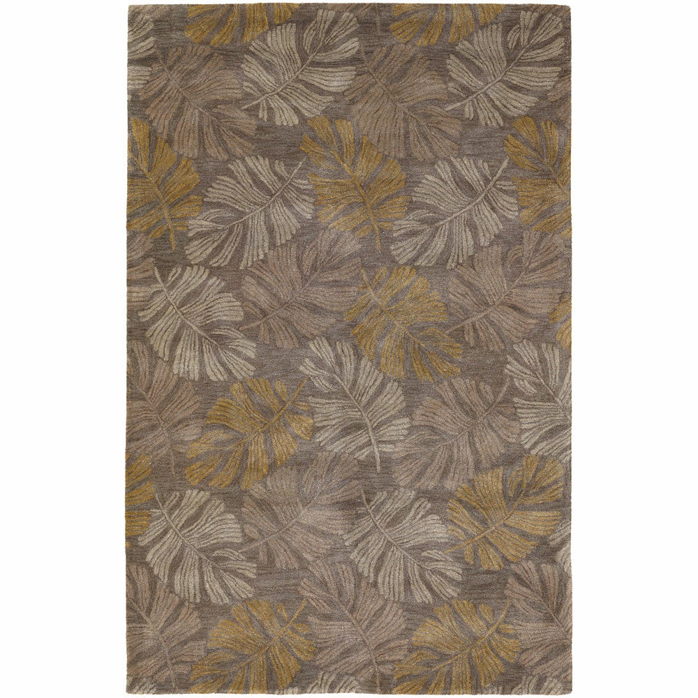 Artist's Loom Hand-tufted Transitional Floral Rug (5' x 7'6) - 5' x 7'6