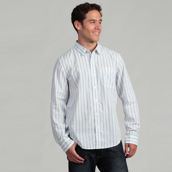 Calvin Klein Jeans Men's Striped Woven Shirt