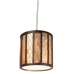 Varaluz Affinity 1-light Capiz Shell Mini Pendant