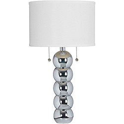 Boon 29 in. Chrome Table Lamp