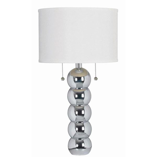 Design Craft Rumba Chrome 29-inch Table Lamp