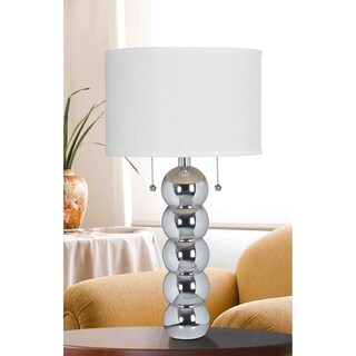 Design Craft Rumba Chrome 29-inch Table Lamp