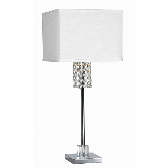 Dakota 31-inch Chrome Finish Table Lamp