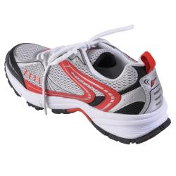 White Boston Traveler Men's Lightweight Lace-Up Running Shoes - Thumbnail 1