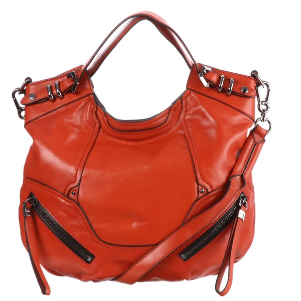 af977dcfa8c1 Shop Oryany Tegan Red Leather Tote Bag - Free Shipping Today ...