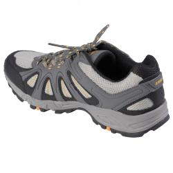 Gray Boston Traveler Men's Lightweight Lace-Up Running Shoes - Thumbnail 1