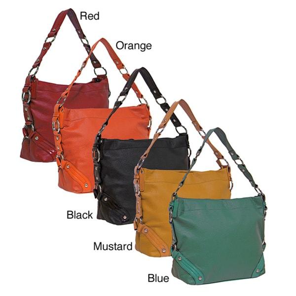 Donna Bell Designs 'Fiametta' Faux Leather Shoulder Bag