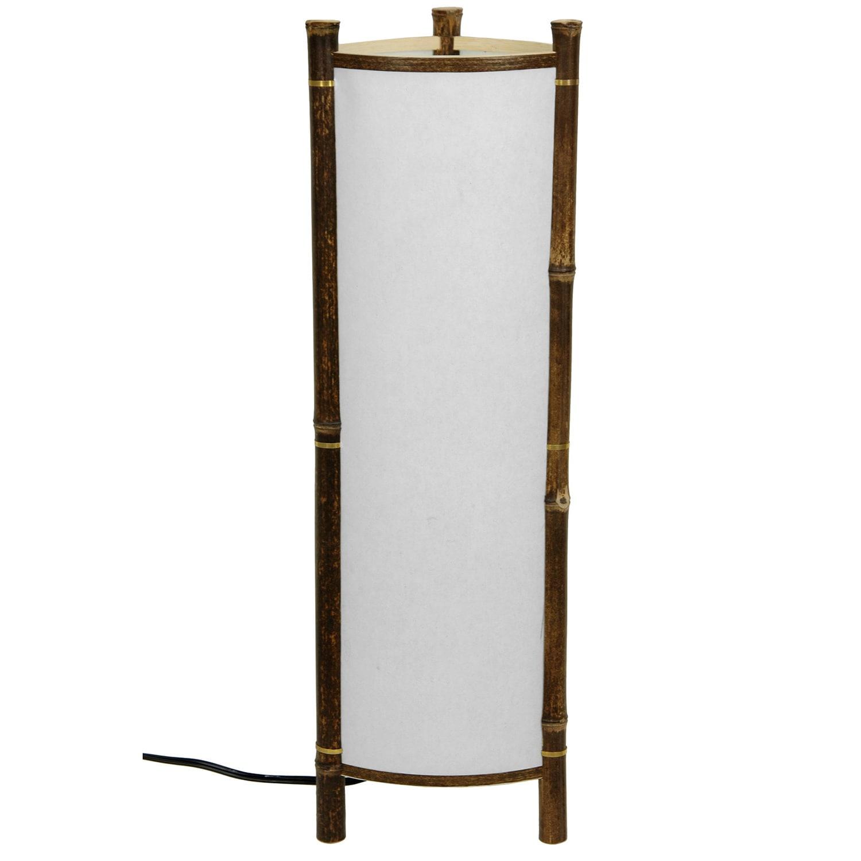 Handmade Kamakura Japanese Bamboo Table Lamp (China), Whi...