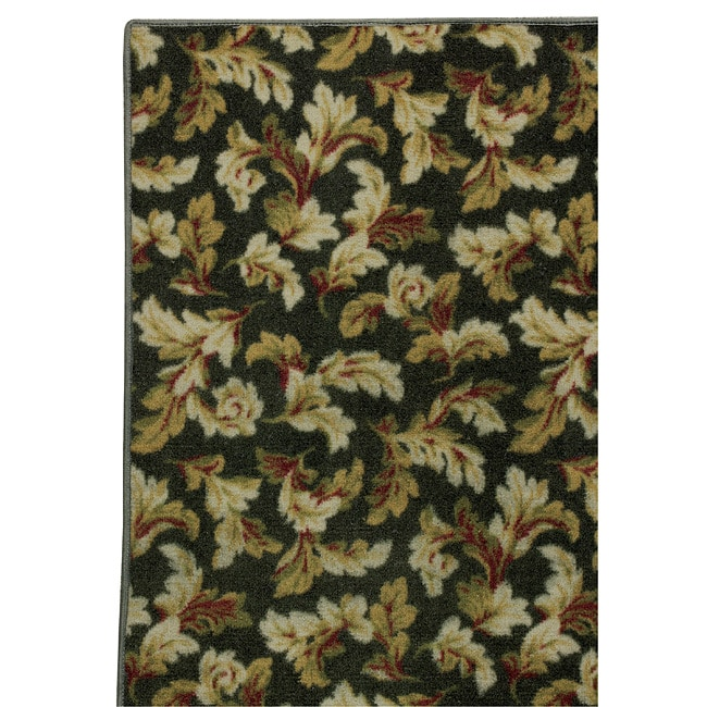 Somette Hand-tufted Printed Green Floral Rug (8' x 10')