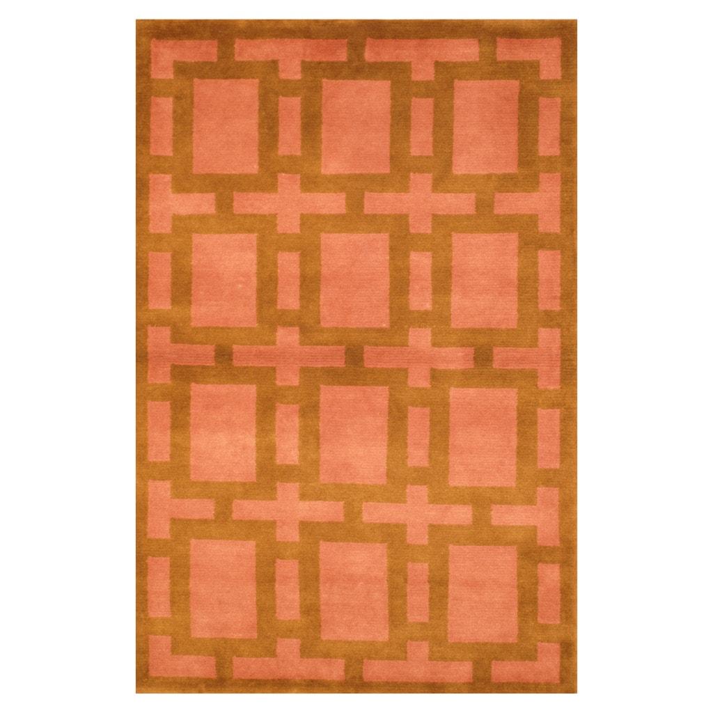 Herat Oriental Indo Hand-knotted Tibetan Wool Rug (3'7 x 5'6)