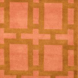 Herat Oriental Indo Hand-knotted Tibetan Wool Rug (3'7 x 5'6) - Thumbnail 2