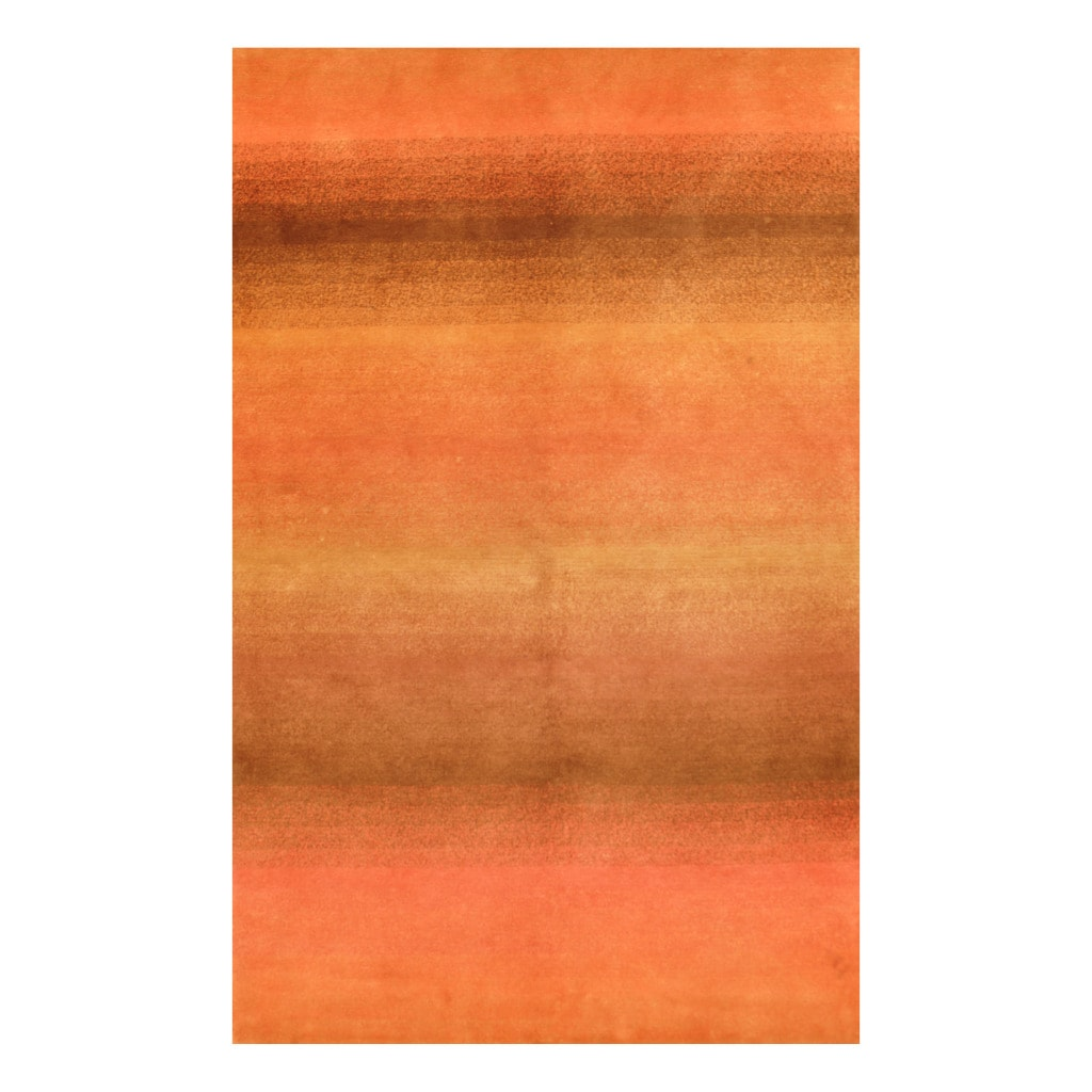 Indo Hand-knotted Tibetan Brown/ Pink Wool Rug (3'7 x 5'6)