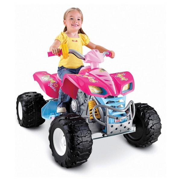Fisher-Price Power Wheels Kawasaki KFX Quad Ride On - Barbie