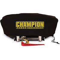 Champion Weather-Resistant Neoprene Storage Cover for Winches 8000-12,000 lb. with Speed Mount Hitch Adapter