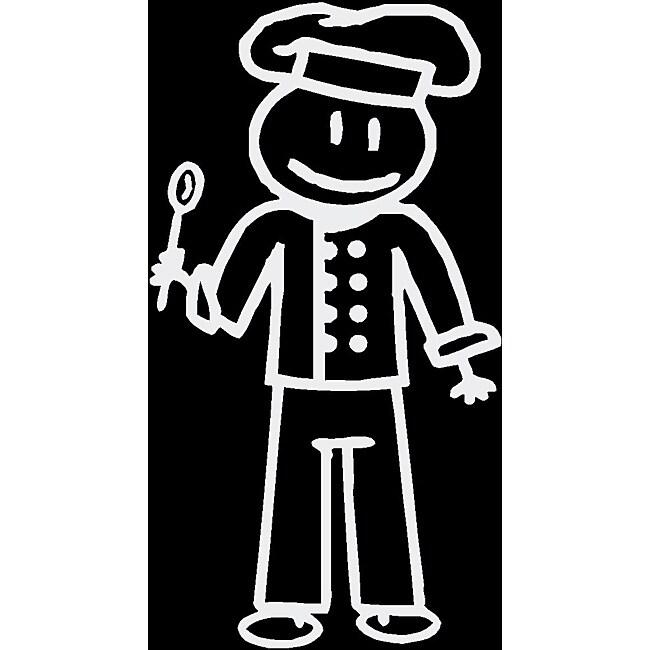 Vinyl Letter Decor 'Chef Dad' Stick Figure Car Decal