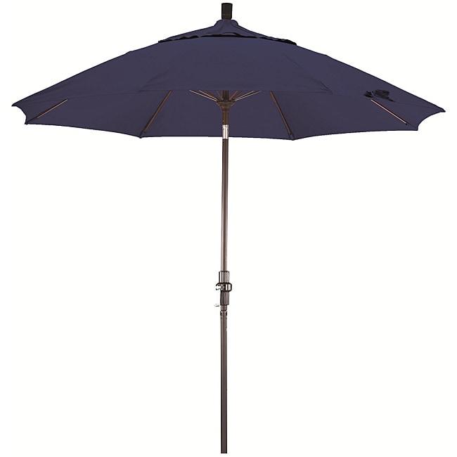 California Umbrella 9' Rd. Aluminum/Fiberglass Rib Market Umb, Deluxe Crank Lift/Collar Tilt, Bronze Finish, Pacifica Fabric