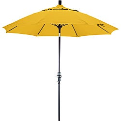 California Umbrella 9' Rd. Aluminum/Fiberglass Rib Market Umb, Deluxe Crank Lift/Collar Tilt, Bronze Finish, Pacifica Fabric