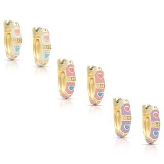 Molly and Emma Children's 14k Gold Overlay Enamel Heart Design Hoop Earrings|https://ak1.ostkcdn.com/images/products/6633062/P14197799.jpg?_ostk_perf_=percv&impolicy=medium