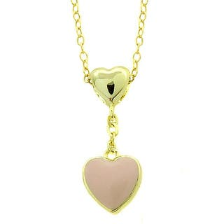 Molly and Emma 14k Gold Children's Enamel Heart Dangle Pendant|https://ak1.ostkcdn.com/images/products/6633065/P14197802.jpg?impolicy=medium