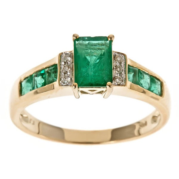 Shop Anika And August 10k Yellow Gold Zambian Emerald And