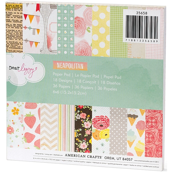 American Crafts 'Dear Lizzy' Neapolitan Paper Pad