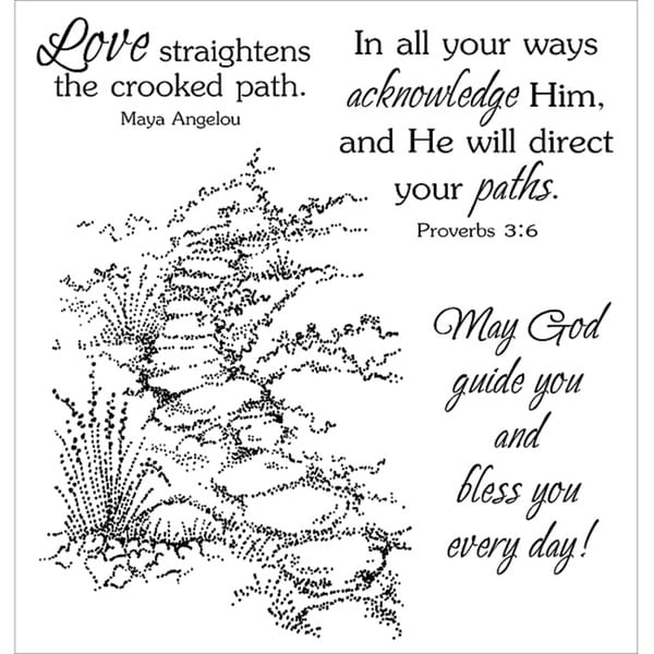 Inky Antics 'Guided Path' Clear Stamp Set