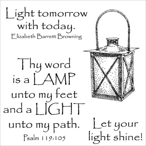 Inky Antics 'Shining Lantern' Clear Stamp Set