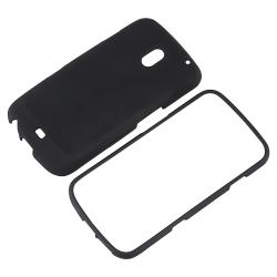 Black Snap-on Rubber Coated Case for Samsung Galaxy Nexus GSM i9250 - Thumbnail 1