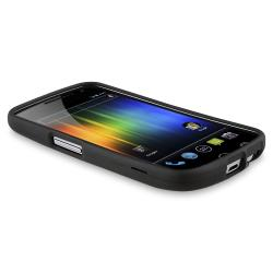Black Snap-on Rubber Coated Case for Samsung Galaxy Nexus GSM i9250 - Thumbnail 2