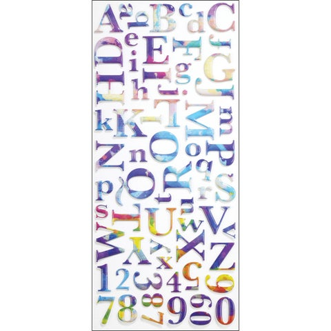 Sticko Watercolor Alphabet Stickers