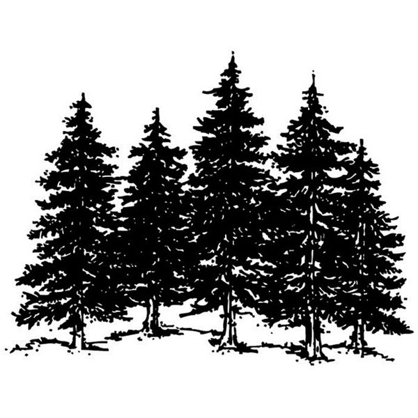 Art Impressions Wilderness Series 'Large Forest' Cling Rubber Stamp
