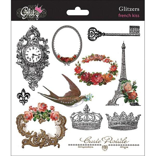 Glitz Design Glitzers 'French Kiss' Transparent Stickers