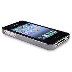 Black Carbon Fiber with Silver Side Case for Apple iPhone 4/ 4S - Thumbnail 2