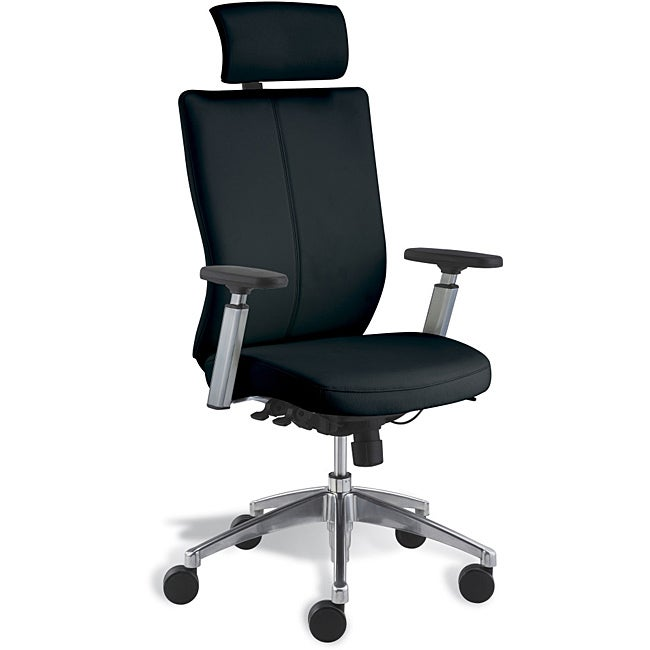 Jesper Office Black Leather Office Chair