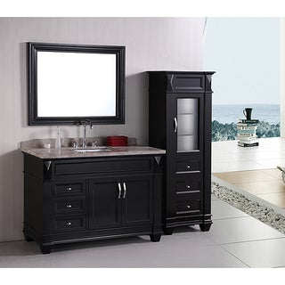 bathroom double vanity with center tower. design element hudson 48inch single sink bathroom vanity set with linen  tower accessory cabinet Bathroom Double Vanity With Center Tower Large Size Of Bathrooms