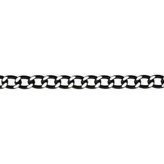 Jewelry Basics Large Black 30-inch Metal Curb Chain