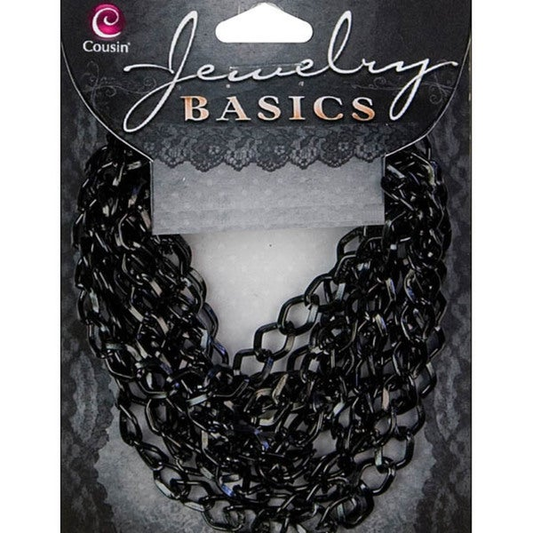 Jewelry Basics 70-inch Small Black Metal Dim Chain