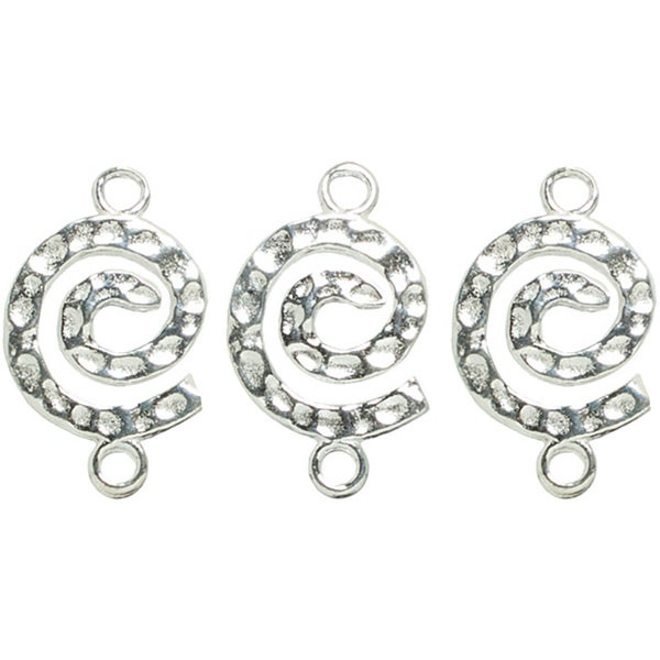 Metal Findings Silver-plated Spiral Connectors (Pack of 4)