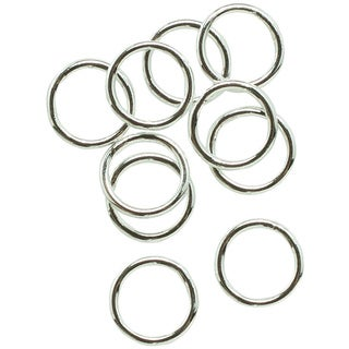 Silverplated 6-mm Closed Jump Rings (Set of 28)