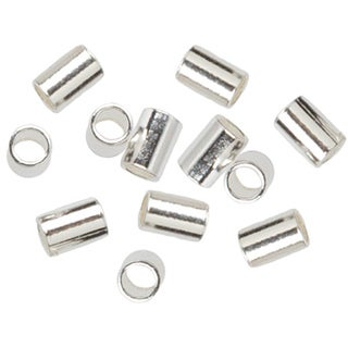 Silverplated 2 mm x 3 mm Crimp Beads (Set of 45)