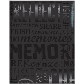 Embossed Gloss 'Memories' Expressions Black Photo Album