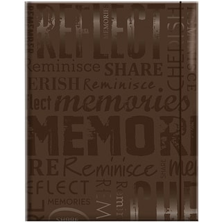 Embossed Gloss 'Memories' Expressions Brown Photo Album (Holds 100 photos)