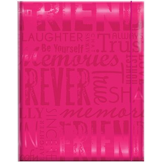 Embossed Gloss 'Friends' Expressions Hot Pink Photo Album (Holds 100 photos)