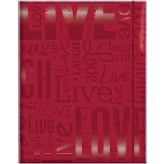 Embossed Gloss 'Live, Laugh, Love' Expressions Red Photo Album (Holds 100 photos)