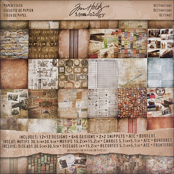 Tim Holtz Idea-Ology Double-Sided Paper Stash (Set of 36 sheets)