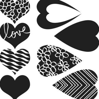 Crafter's Workshop Mix & Match Hearts 6x6 Templates