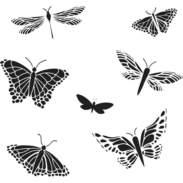 Crafter's Workshop Mariposas 6x6 Templates