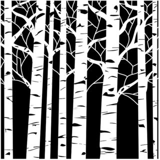 Crafter's Workshop Aspen Trees 6x6 Templates