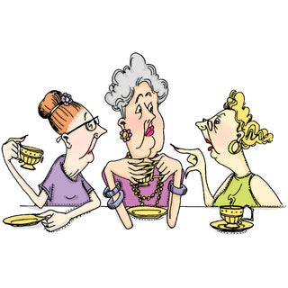 Art Impressions 'Golden Oldies Gossip Club' Cling Rubber Stamp